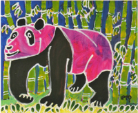Ippo Motomura's works<A pink panda>
