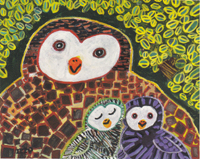 Ippo Motomura's works<Owl parent and childs>